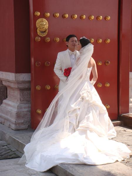 巧遇新人拍婚紗,今天真是熱鬧無比