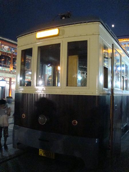 前門大街有地面電車可坐,不想走路的可以搭乘,共3站