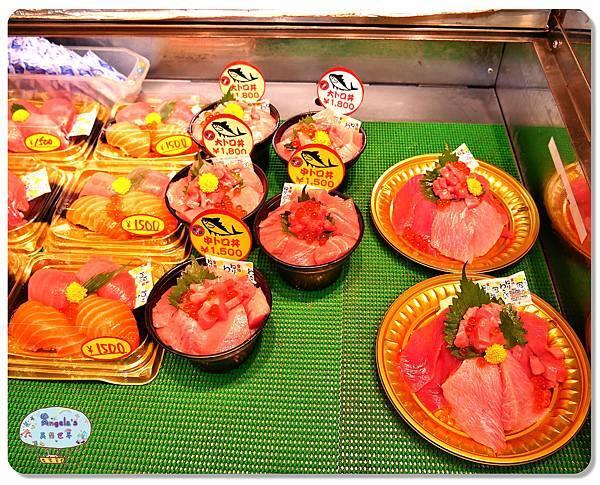 大阪黑門市場MAGUROYA黑銀生魚片007.jpg