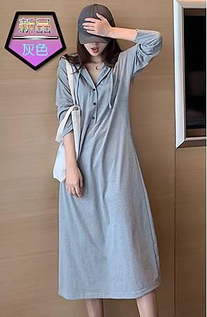 維多利亞法式復古氣質連帽連衣裙006.jpg