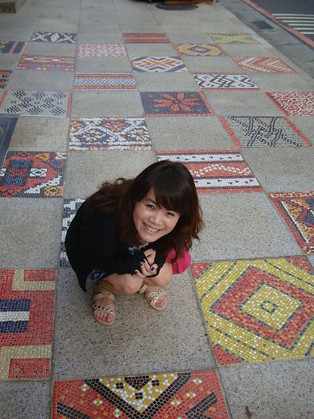 好彩色的地磚....