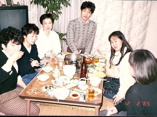 1990年和廣瀨老師以及ヴォーグ社同事一起過年聚餐.jpg