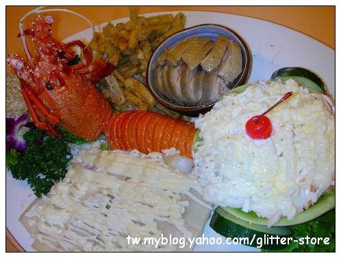 菊元日本料理-龍蝦沙拉冷盤.JPG