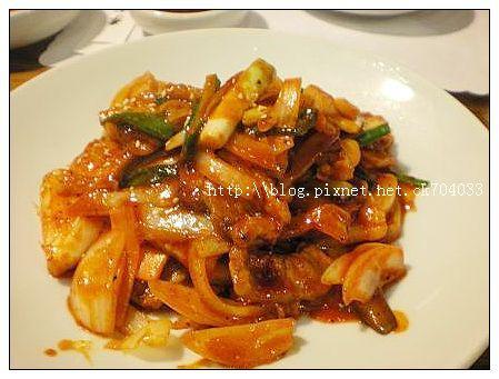 李家長壽韓國料理餐廳-辣炒豬肉.JPG