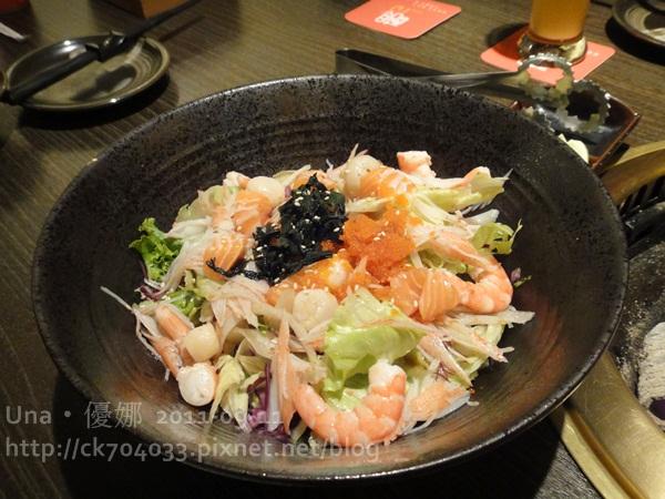 醐同燒肉-海鮮沙拉.JPG