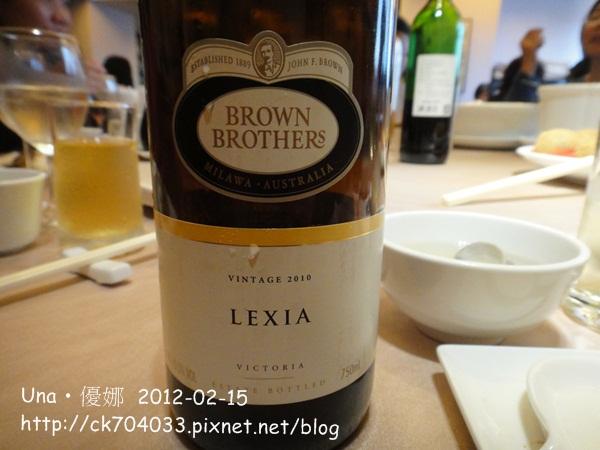 布朗兄弟蕾希雅甜白葡萄酒2012春酒