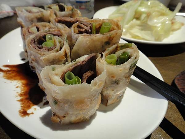 天母溢香園餐廳-大餅卷牛肉