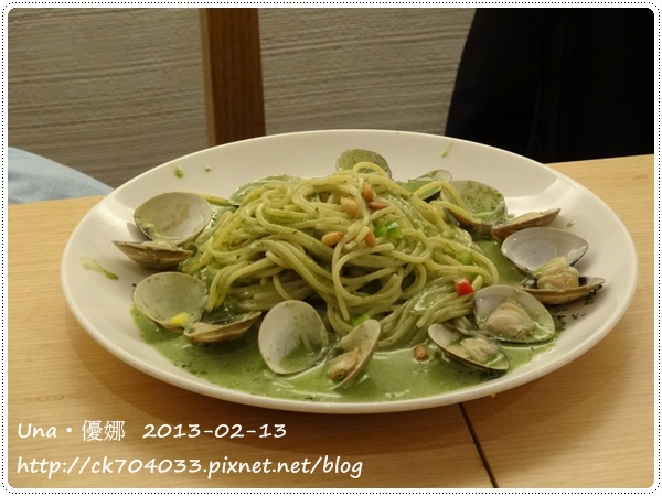 102.2.13 GoGo Pasta敦南店-蛤蠣青醬義大利麵