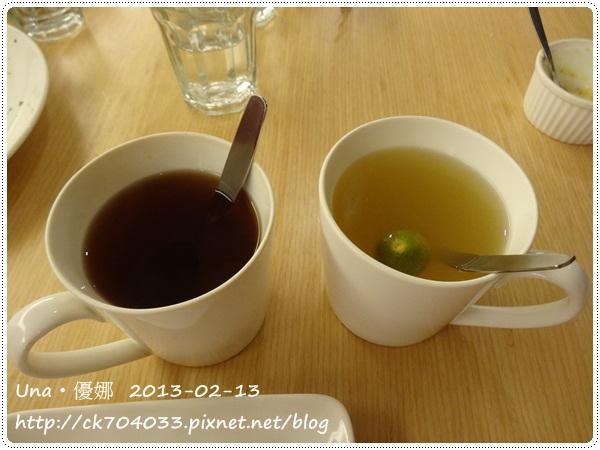 102.2.13 GoGo Pasta敦南店-熱紅茶及熱桔茶