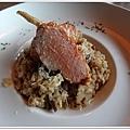 高雄HOTEL DUA飯店etage 15午餐-牛肝菌起司燉飯搭明太子烤雞翅1