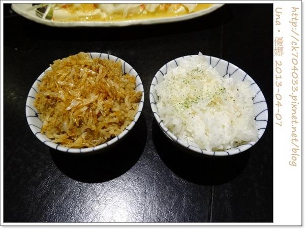 水舞饌台北大直店-櫻花蝦飯&白飯