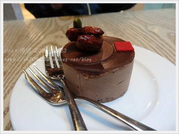 京站2樓艾莉兒咖啡-堅果可可蛋糕