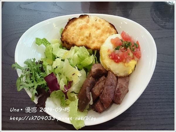 信陽街Waffogato  瓦法奇朵咖啡館-燒烤安格斯牛特餐1