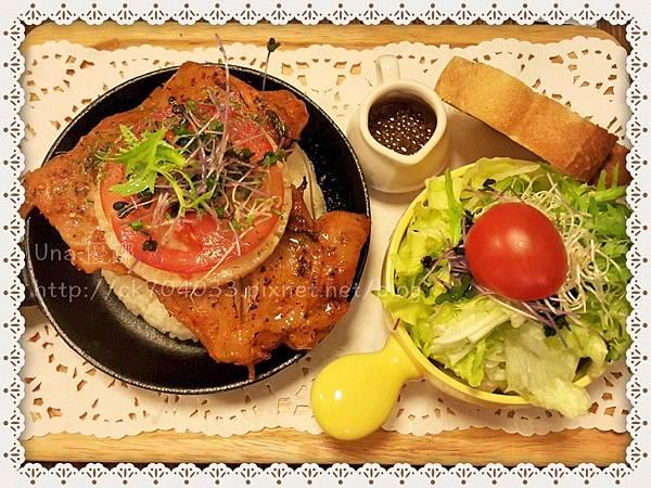 Hana cafe大安店_加州田園雞腿飯.JPG