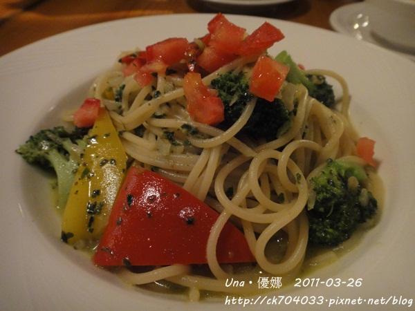 kiki cafe-鮮蔬奶油青醬義大利麵.JPG