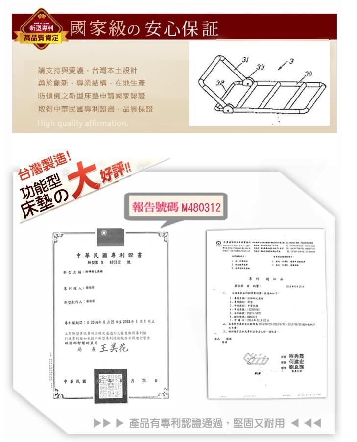 KOTAS專利四段式調整抗菌透氣折疊床墊