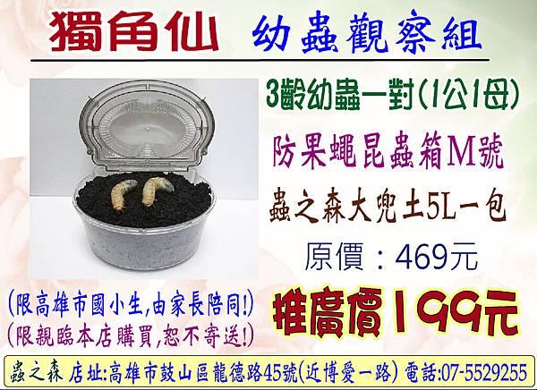 獨角仙幼蟲套裝組107