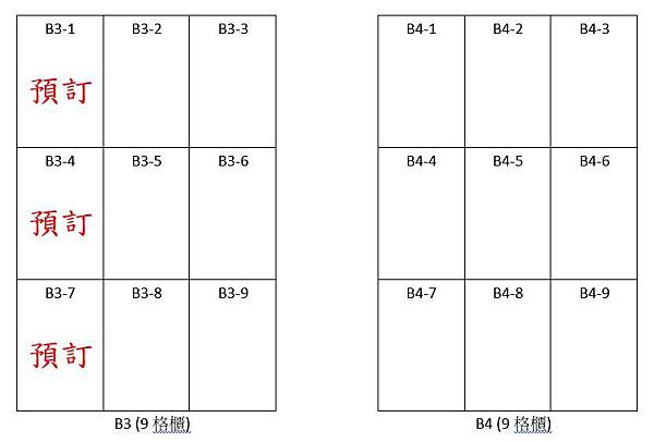 格位預訂B3B4款