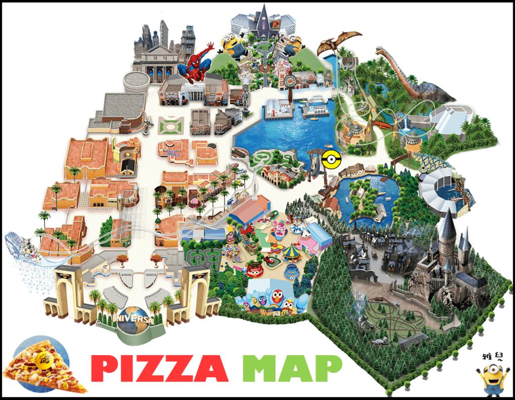地圖披薩套餐