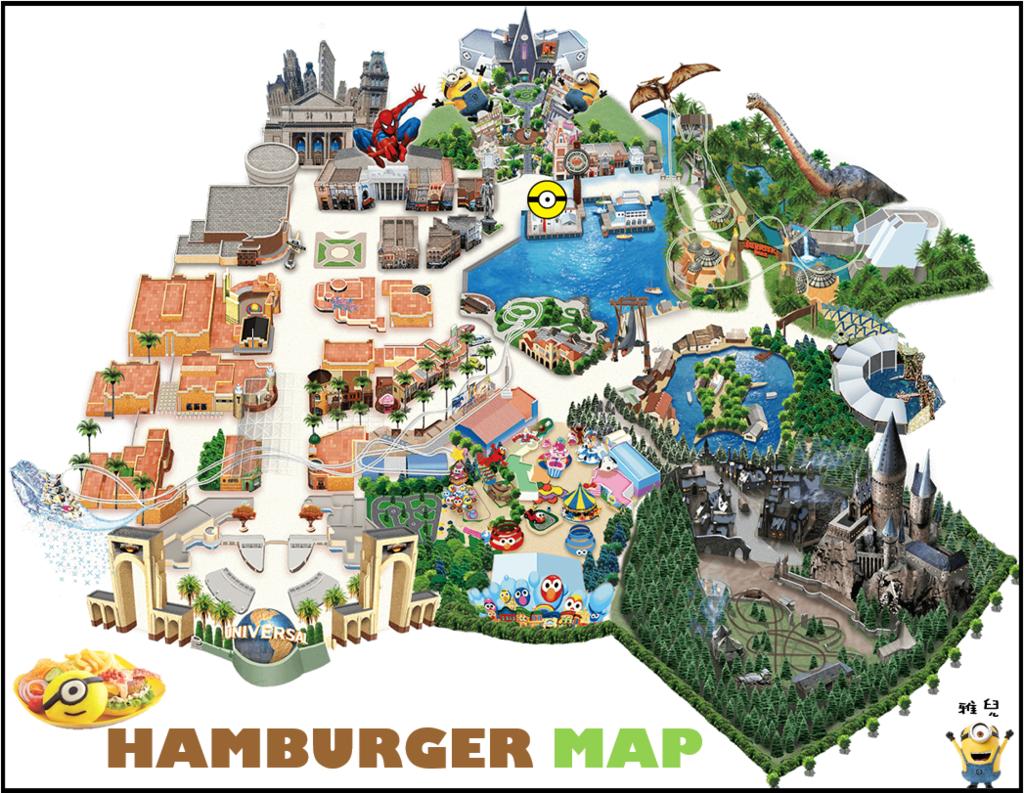 地圖漢堡盤
