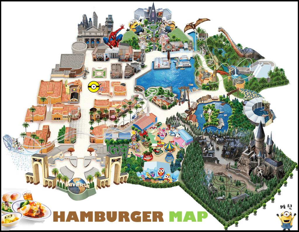 地圖特別漢堡套餐