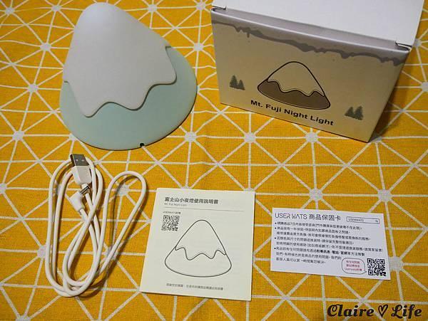 USERWATS富士山小夜燈開箱
