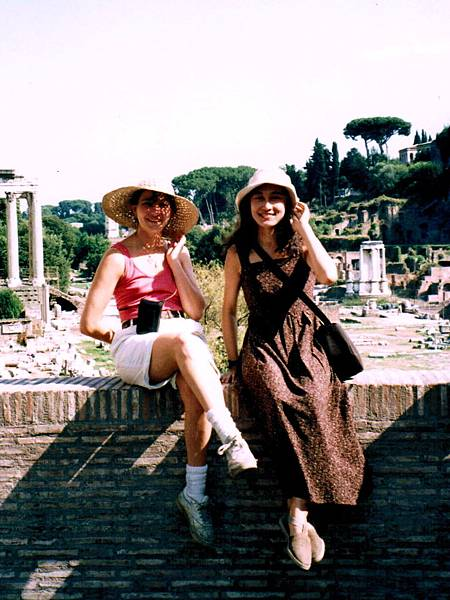1. Claire & Mary in Rome