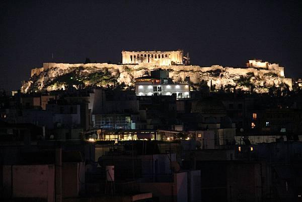 1397.夜晚打燈後的雅典衛城