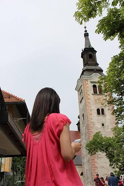 Slovenia 布雷德湖-120606-062-湖心小島聖母升天教堂