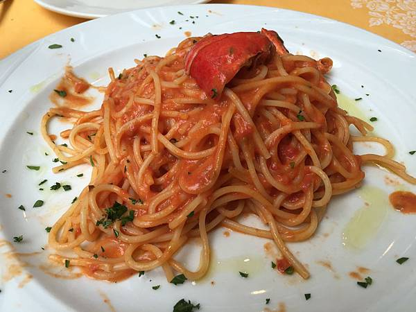 2015-06-13 19.36.15_Dinner at Trattoria Bordino_Spaghetti All Aragosta 龍蝦麵
