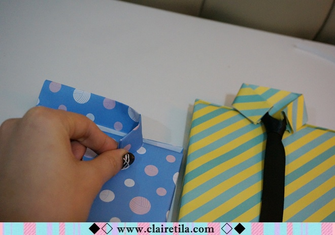 情人節禮物包裝特輯‧愛心形提袋+領帶造型包裝+斜緞帶綁法 (18).JPG