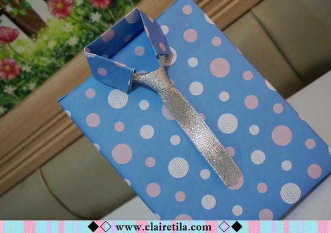 情人節禮物包裝特輯‧愛心形提袋+領帶造型包裝+斜緞帶綁法 (27).JPG
