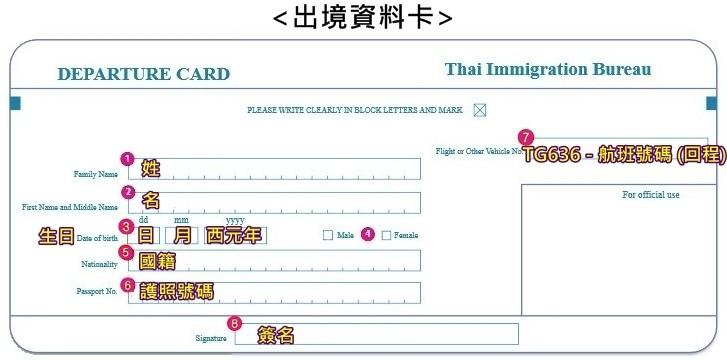 出境資料卡
