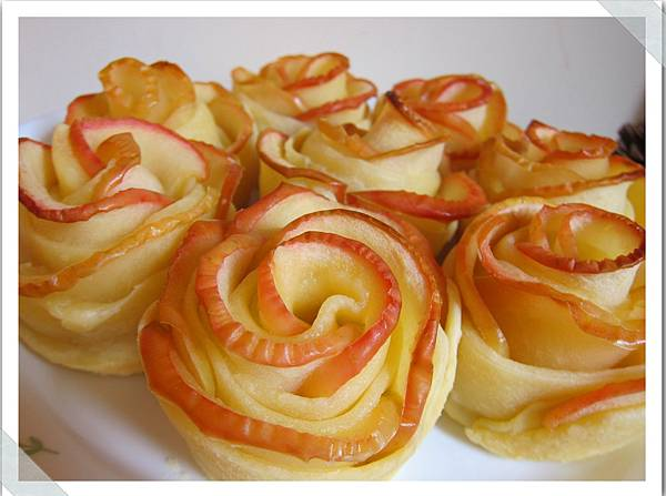 玫瑰花蘋果捲