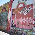 然後在Clarion Alley看到很多色彩縯紛的壁畫