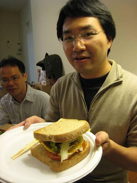 Ray董吃漢堡