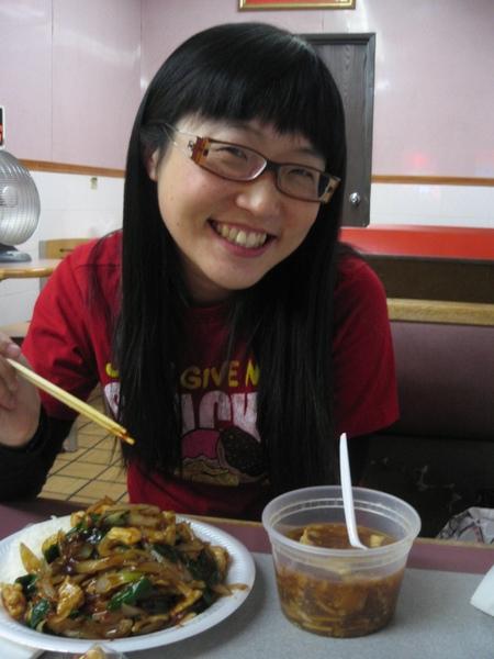 蒙古牛(w/ White Rice) + 酸辣湯 @ Great Wall, No. 1 New York Style Chinese Fast Food