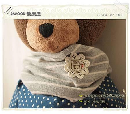 橫條紋寶寶圍巾2