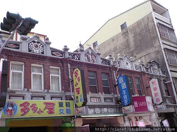 老街建築物上的裝飾