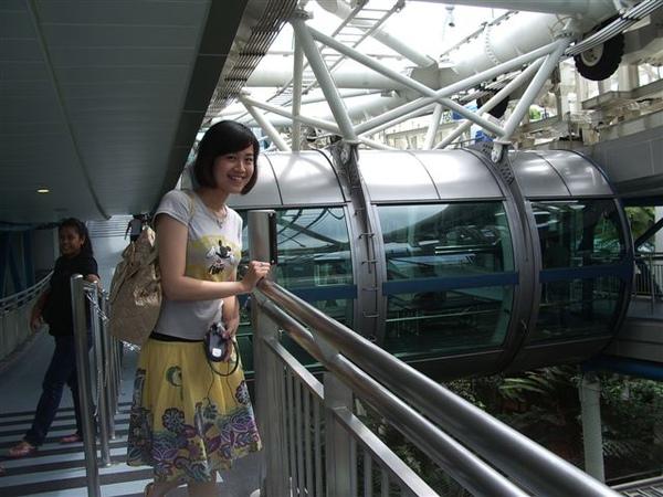 坐完Singapore Flyer後-後面的可是會動的押!
