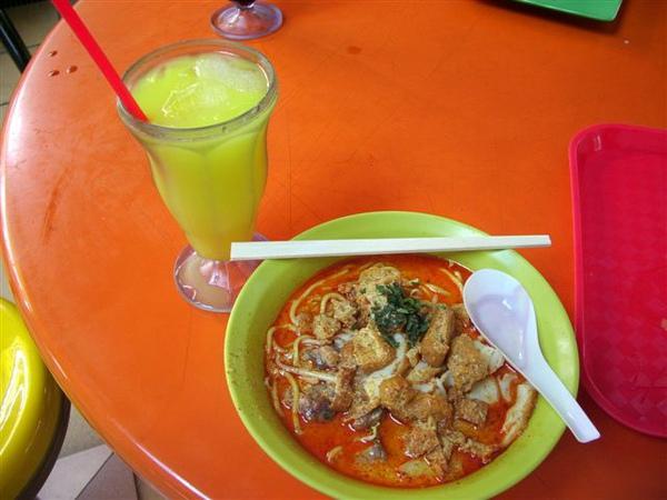 酸柑汁 & laksa