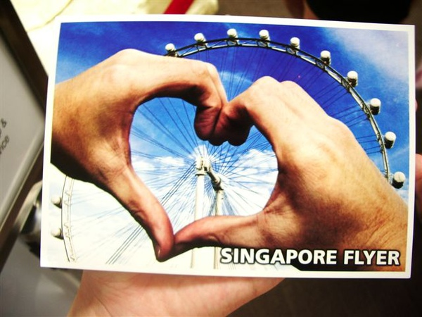 Singapore Flyer買的明信片