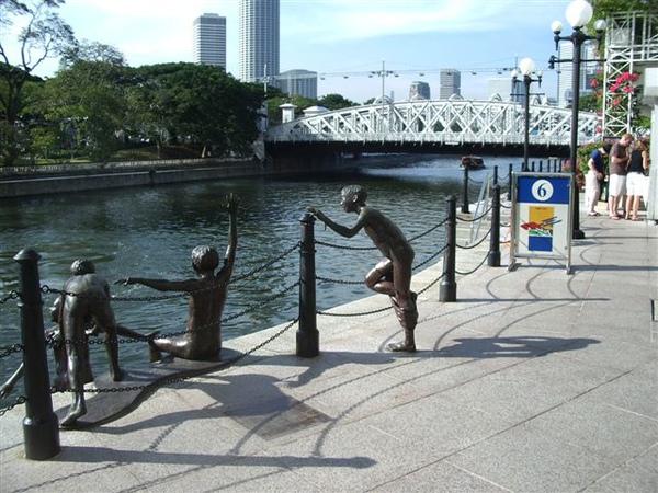 新加坡河-有趣的雕塑品