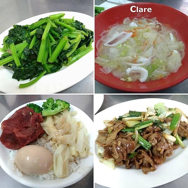 珍味昌-炒青菜、花枝米粉湯、爌肉飯、蔥爆豬肉.jpg