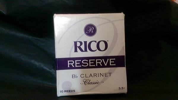 Rico reserve clarinet reed