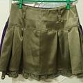 緞面軍綠短裙