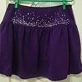 紫色水鑽短裙