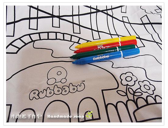 美國 Rubbabu 天然乳膠玩具嘟嘟小火車彩繪遊戲組