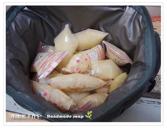 母乳含袋總重約:2770G