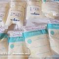 母乳含袋總重約:1075G